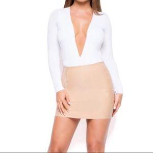 OhPolly Nude Latex Skirt
